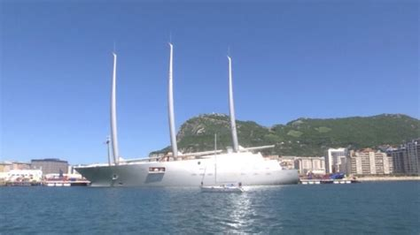 Big Sailboat Jobs by Russian Billionaire S 163 360 Million Superyacht With Masts