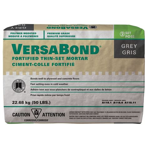 custom building products versabond fortified thin set