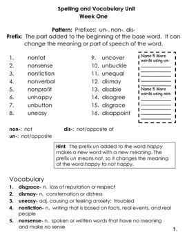 4th Grade Spelling And Vocabulary Common Core Differentiated Program