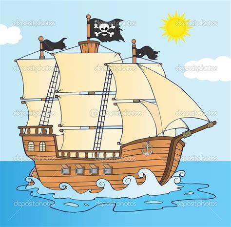 Dessin Animé Bateau Pirate by Bateau Pirate Naviguant Sous Le Personnage De Dessin Anim 233
