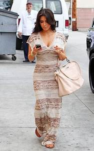 Kim Kardashian and Bebe Open Knit Maxi Dress (#1536468 ...