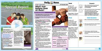 Special Report Antibullying  Twinkl Newsroom