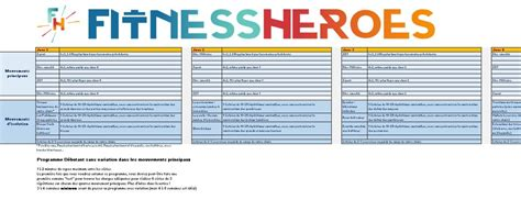 programme musculation d 233 butant fitness heroes