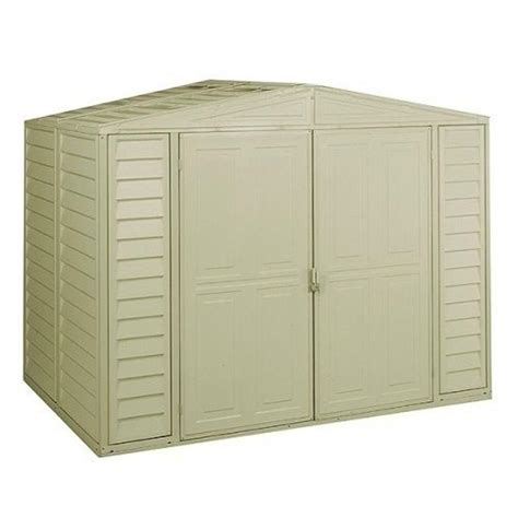suncast sutton 7 ft 4 5 in x 3 ft 11 75 in resin storage shed bms7491 the home depot