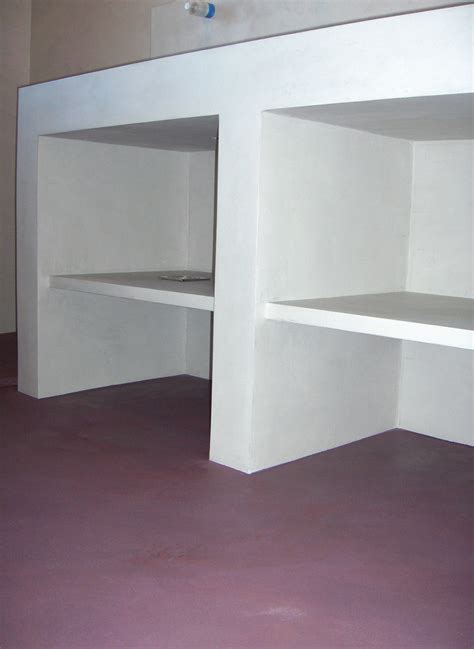 faire un meuble salle de bain en beton cellulaire