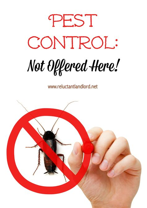 Pest Control Not Offered Here!  The Reluctant Landlord