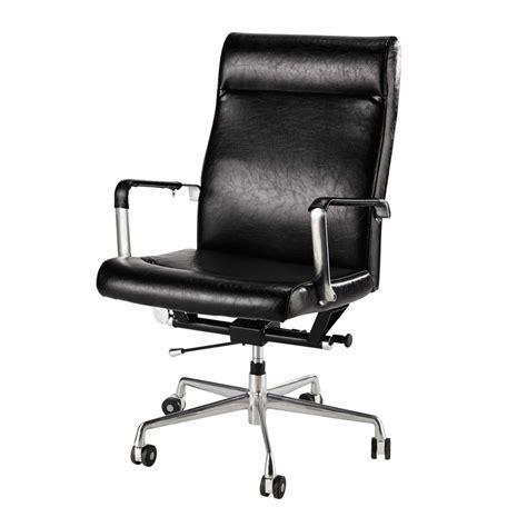 fauteuil de bureau 224 roulettes noir maisons du monde