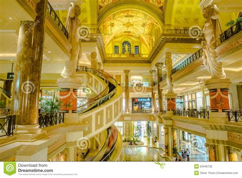 the forum shops view from second floor at caesars palace in las editorial photography image
