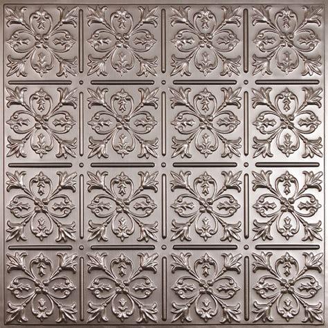 Ceiling Tiles Home Depot Canada by Ceilume Fleur De Lis Faux Tin Ceiling Tile 2 X 2