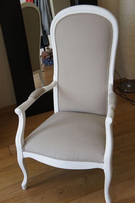 fauteuil voltaire gris pois blancs meuble