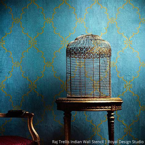 Once in a Blue Room with Stencils  Paint + Pattern