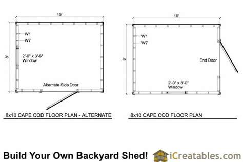 8x10 cape cod shed plans storage shed plans