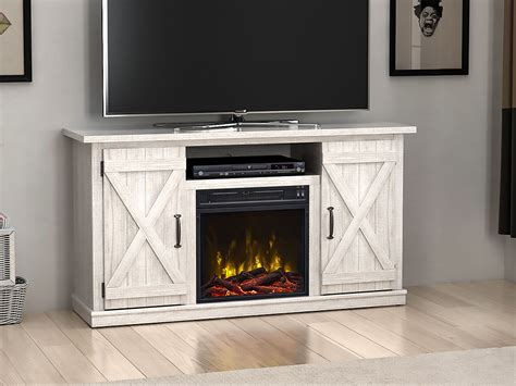 Killian Electric Fireplace Media Console In Sargent Oak Table Saw Bench Plans Free Couple Shirt Rustic Wooden Seats Clamping N Bar Scandinavian Comfortable Benches Paul Sellers