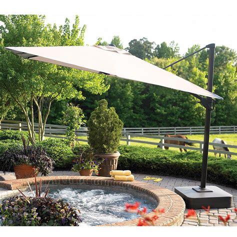 Sears Offset Patio Umbrella by Sears Garden Oasis 10 Square Offset Umbrella Garden Winds