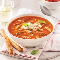 soupe repas aux tomates p 226 tes et saucisses soupers de semaine recettes 5 15 recettes