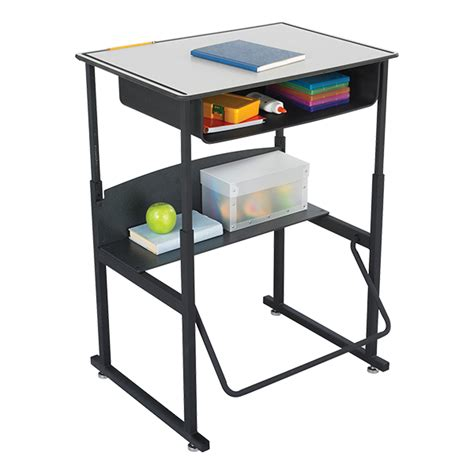 safco alphabetter stand up desk w book box kydex top 28 quot w x 20 quot d at school outfitters