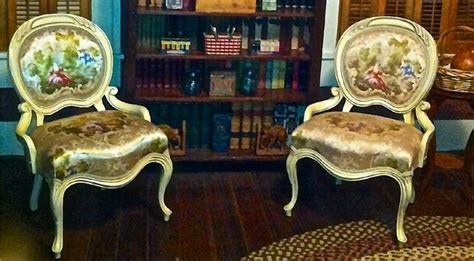 stunning pair of vintage provincial armchairs by