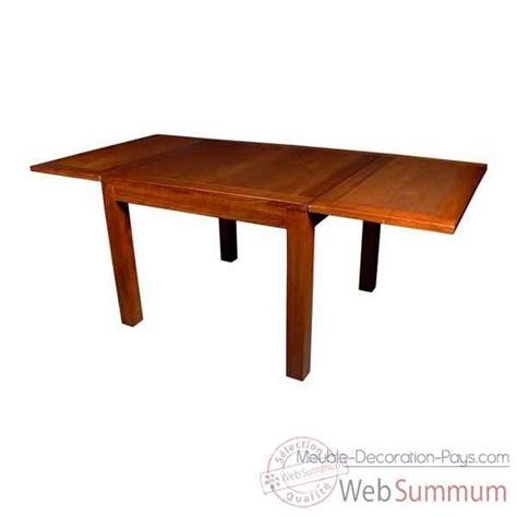 table carr 233 e avec 2 rallonge stri 233 meuble d indon 233 sie