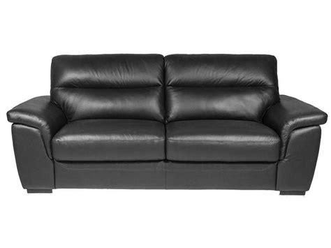 canap 233 fixe 3 places en cuir coloris noir vente de canap 233 droit conforama
