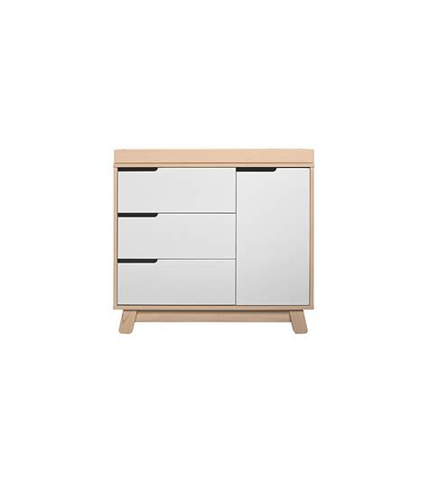 babyletto hudson 3 drawer changer dresser kd w removable changing tray in washed white
