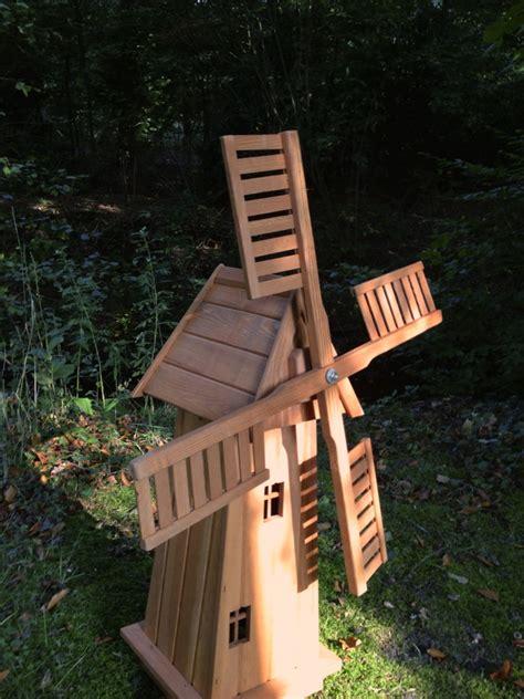 Windmühle Aus Holz  Handgefertigte Holzwindmühle Garten