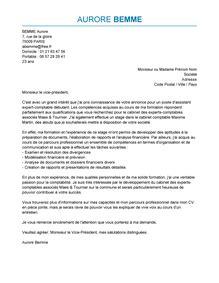lettre de motivation assistant expert comptable exemple lettre de motivation assistant expert