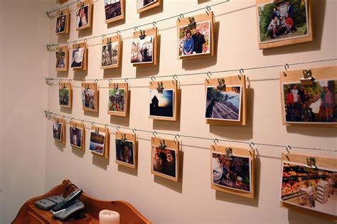 Cheap, Easy Photo Display Wall