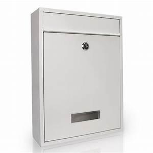 Briefkasten Edelstahl Design : design briefkasten edelstahl weiss metall rostfrei mit namensschild postkasten ebay ~ Markanthonyermac.com Haus und Dekorationen
