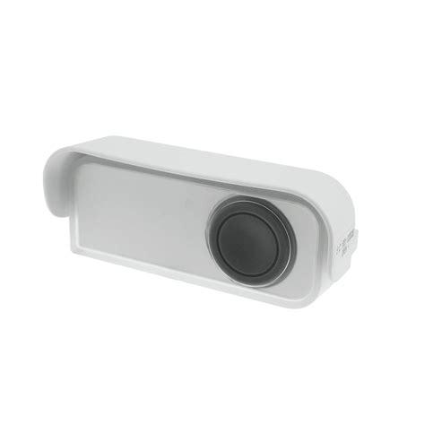 bouton de sonnette sans fil 224 led evology blanc leroy merlin