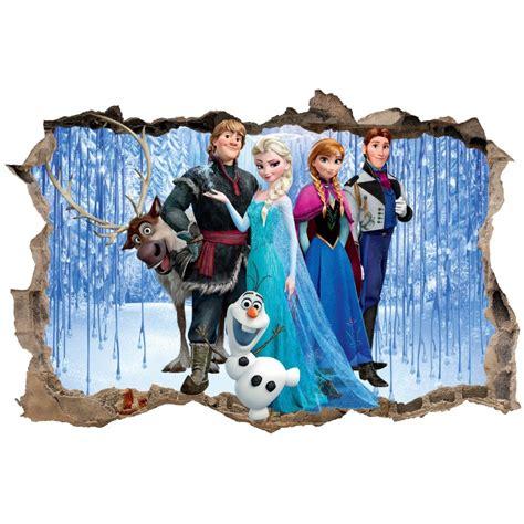 stickers enfant 3d la reine des neiges d 233 co stickers