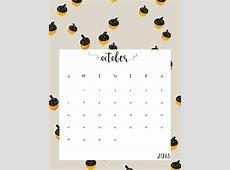 October 2018 Calendar Printable Landscape Calendar