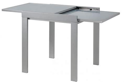 id table repas carre 70cm grise julie allonge 70 c