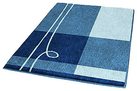 royal blue bathroom rugs modern themed non slip bathroom rug with wave pattern affordable