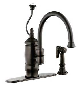 bfn141 03orb foret single handle kitchen faucet with matching sidespray rubbed bronze