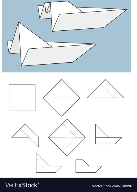 How To Make Paper Boat Download by Paper Boat Origami Royalty Free Vector Image Vectorstock