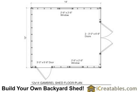 gambrel shed plans 12x12 images