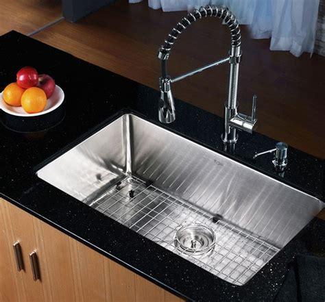 kraus khu10030 30 inch undermount single bowl kitchen sink with 16 stainless steel