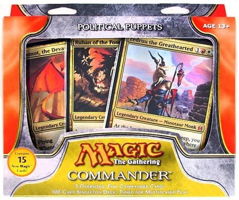 magic the gathering commander deck 2011 political puppets da card world