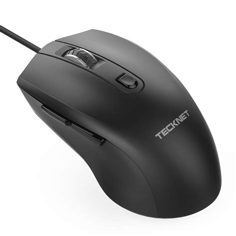 Tecknet Mouse by Tecknet Alpha S3 6 Button Usb Wired Mouse