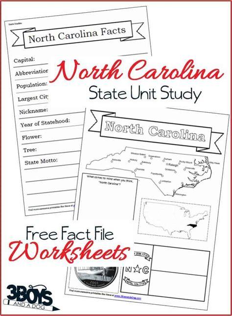 North Carolina State Fact File Worksheets  3 Boys And A Dog