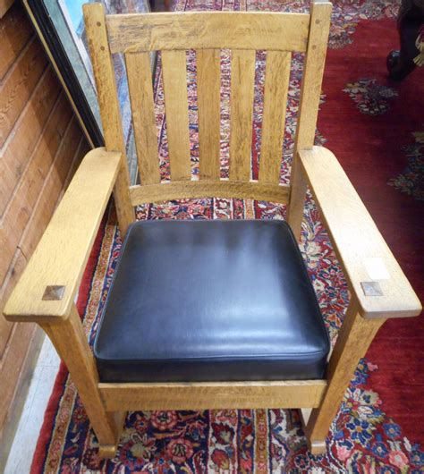 charles stickley craftsman oak rocking chair char