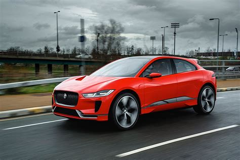 2019 Jaguar Ipace Drifts On Frozen Lake In The Hands Of