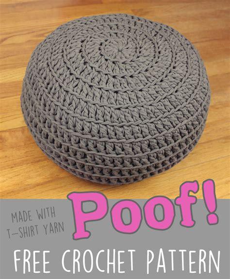 free crochet pattern poof floor pillow pouf ottoman gleeful things bloglovin