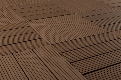 kontiki composite interlocking deck tiles classic 25 year brown 12 quot x12 quot x15 16 quot