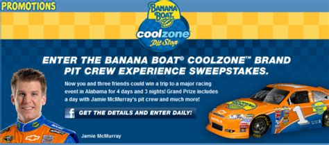 Banana Boat Queen by Banana Boat 174 Coolzonetm Pit Crew Experience Sweepstakes