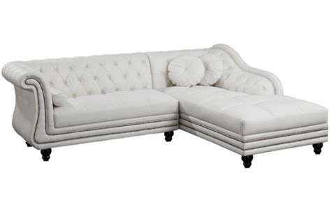 canap 233 d angle droit blanc chesterfield declikdeco