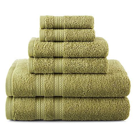 home expressions 6 pc solid bath towel set jcpenney
