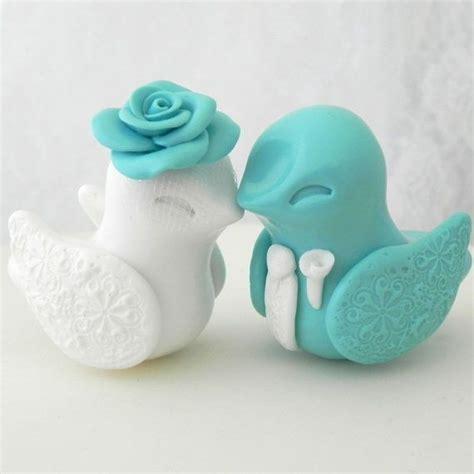 bird cake toppers bird wedding cake topper robins egg blue and white
