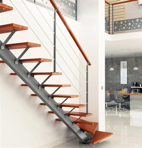 escalier limon central acier sur mesure escaliers escaliers sur mesures contemporain cas 233 o