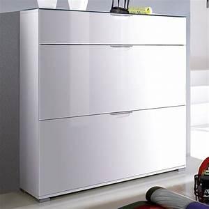 Schuhschrank Flach Weiß : schuhschrank benja in hochglanz wei ~ Markanthonyermac.com Haus und Dekorationen